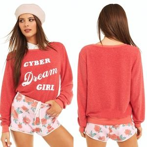WILDFOX Cyber Dream Girl Baggy Jumper Sweater